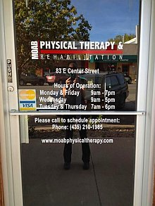 Moab Physical Therapy Front Door